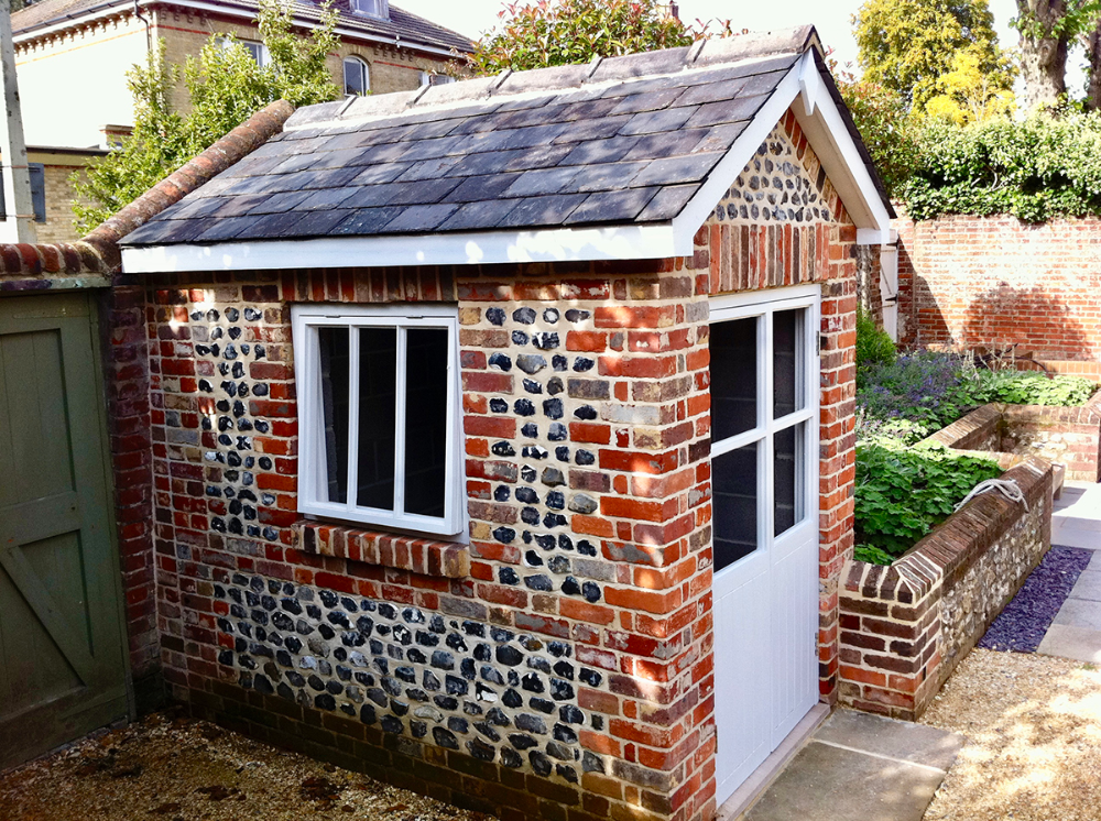 The Brick Summerhouse Company The English Garden Directory In 2020 Brick Shed Garden Buildings Shed