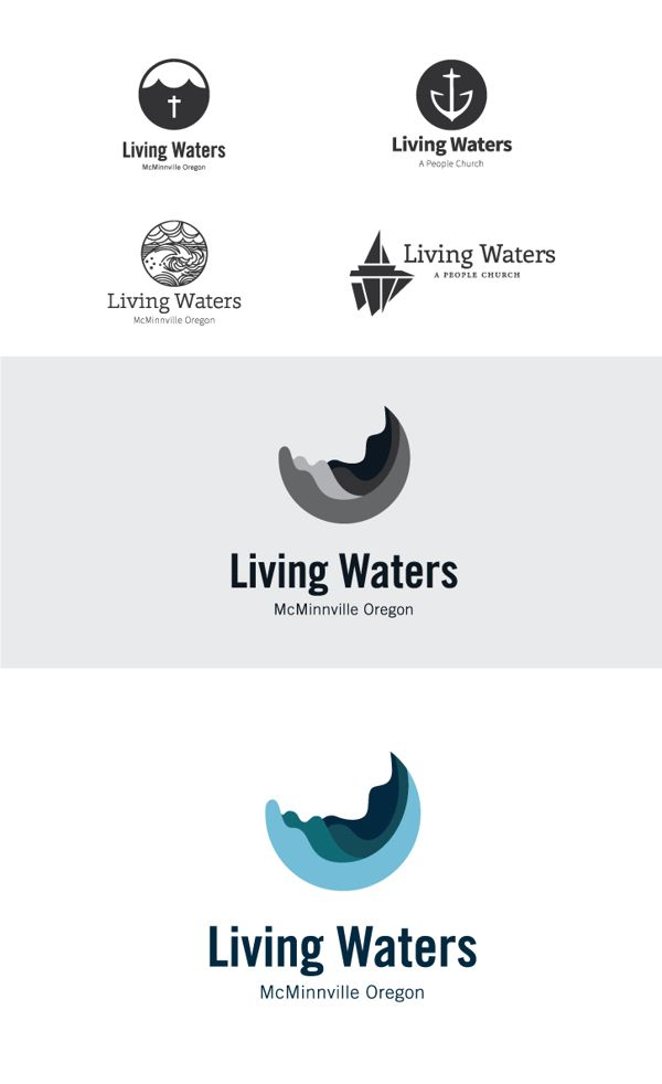 Living Waters branding on Behance   Great Church Logos   Pinterest ...