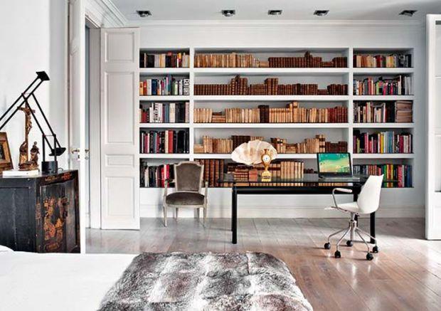 Aún más ideas para tu oficina en casa #38 Oficina en casa, En casa - bibliotecas modernas en casa