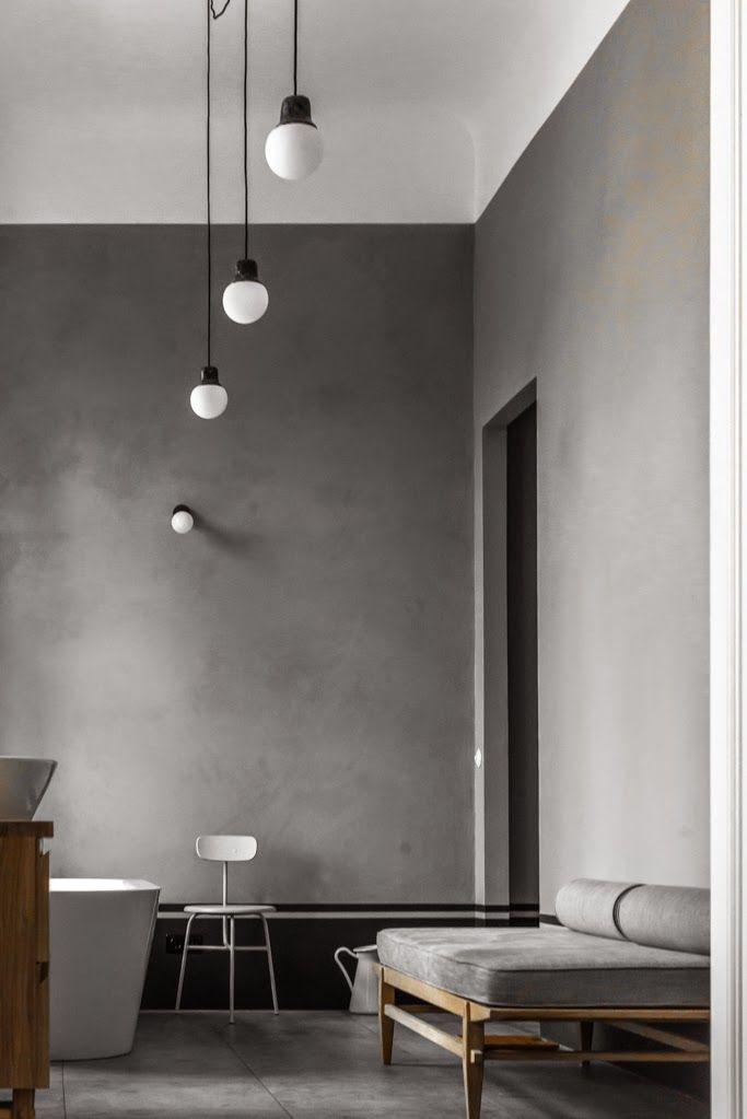 Berlin / Une salle de bain grise / Pinterest Interiors, Lofts