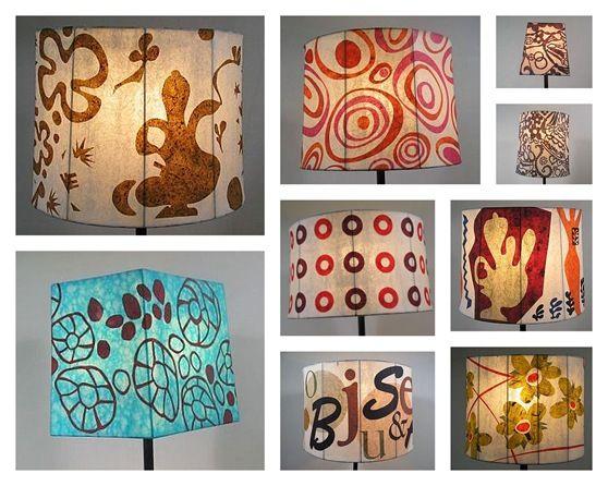 Papier mache lampen