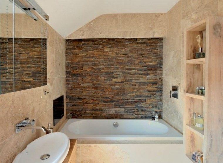 Azulejos de travertino para las paredes y el suelo del for Azulejos bano modernos
