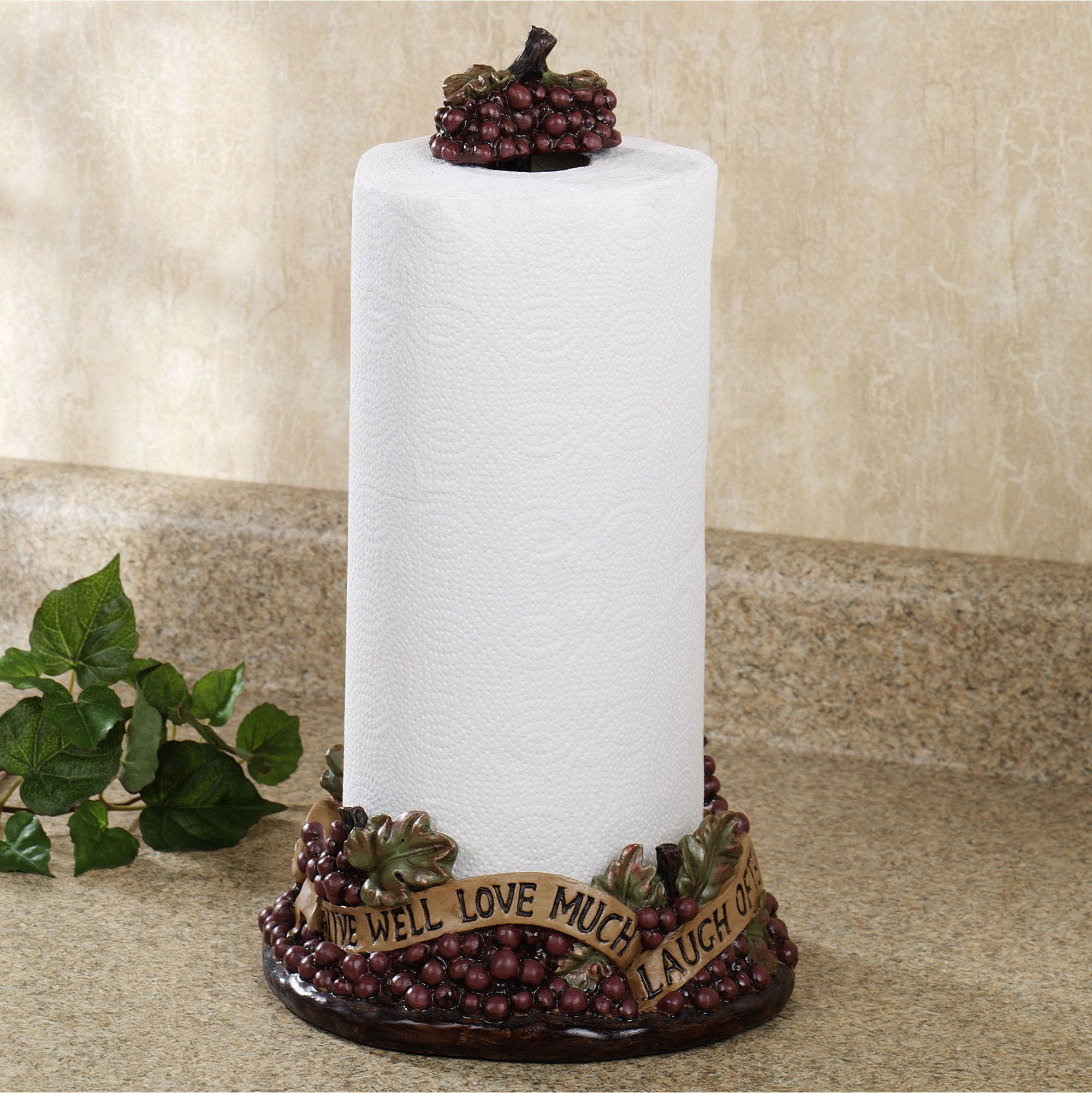 Live Love Laugh Grapes Paper Towel Holder | Paper towel holders ...