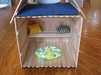 Popsicle house  | İce cream sticks | Popsicle stick houses