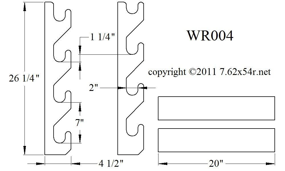 graphic regarding Printable Gun Rack Template identified as Pin upon Woodworking assignments