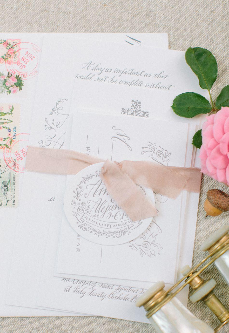 Ashley and Alejandro — Holly Hollon | Wedding Invitations ...