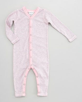 Splendid Littles Striped Snug Fit Playsuit Pink Ribbon Neiman
