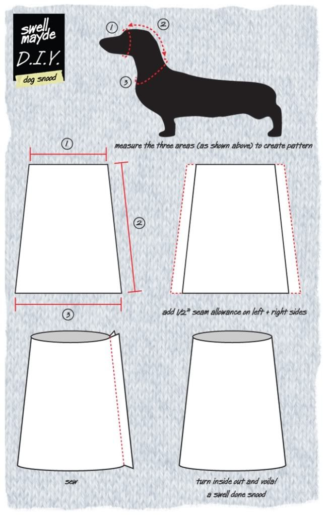 Swell Made Dog Snood Pattern// To help Watson\'s ears heal without ...