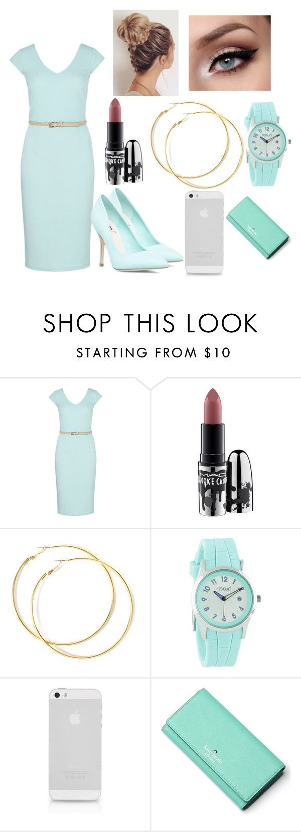 """""""Untitled #590"""" by madhatter-000122334455 ❤ liked on Polyvore featuring Sugarhill Boutique, MAC Cosmetics, Rip Curl and Kate Spade"""