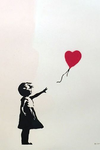 Banksy, «Girl with Balloon», 2004.                                                                                                                                                      More #streetart