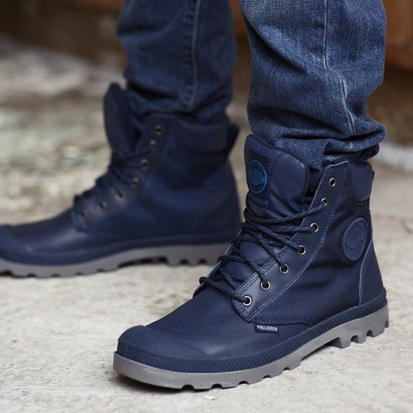 Fancy  Indigo Pampa Sport Cuff Wp2 Boots by Palladium