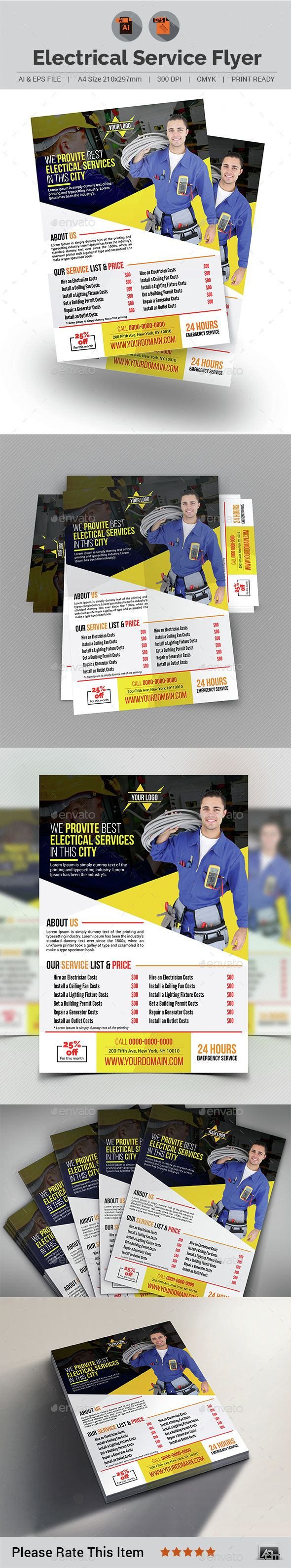 Electrical Service Flyer Template