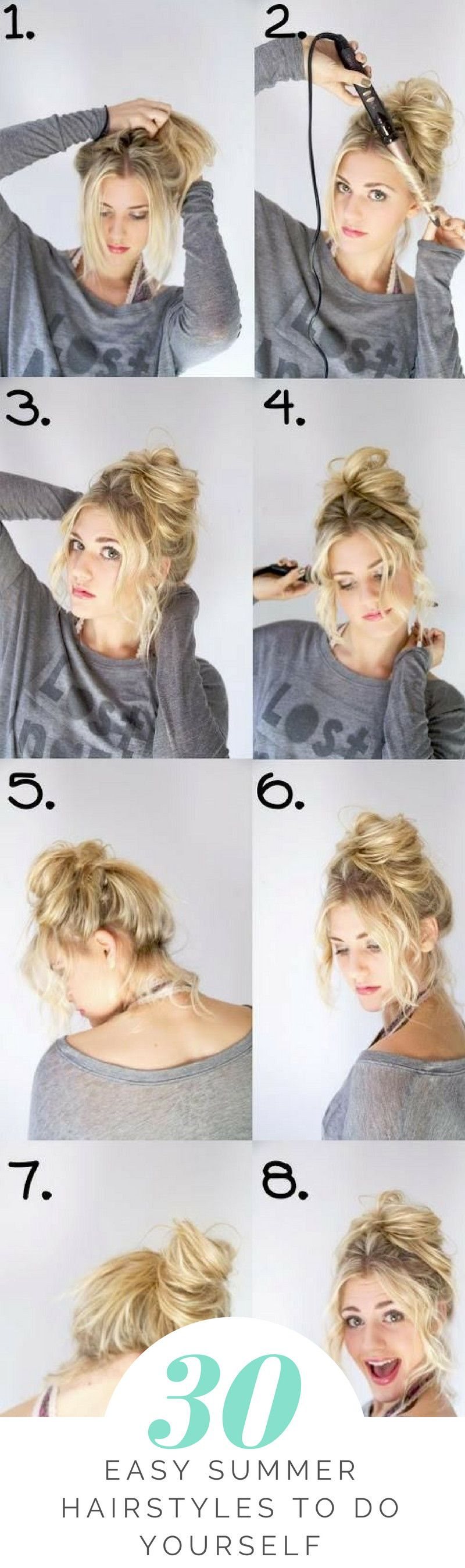 easy summer hairstyles to do yourself hairstyles pinterest