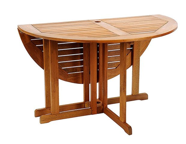 Place This Table Against A Wall For Everyday Use And Fold Up The Leaf When Entertaining Larger Crowds