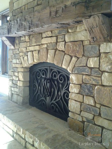 Custom Arched Fireplace Doors In California Amp Arizona Fireplace Doors Fireplace Custom Fireplace