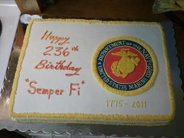 Usmc Birthday Cake Cake Freak Yes I Did These Pinterest