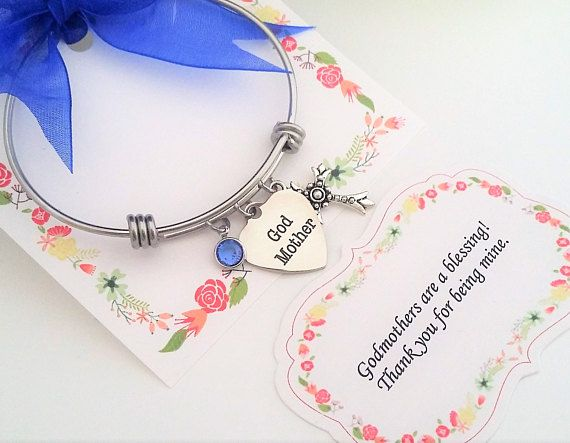 GODMOTHER GIFT Godmother BRACELET Proposal Thank You Gift Birthday Bracelet Wedding