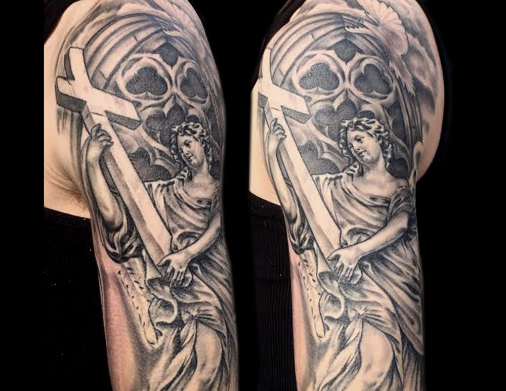Church Tattoo Buscar Con Google Angel