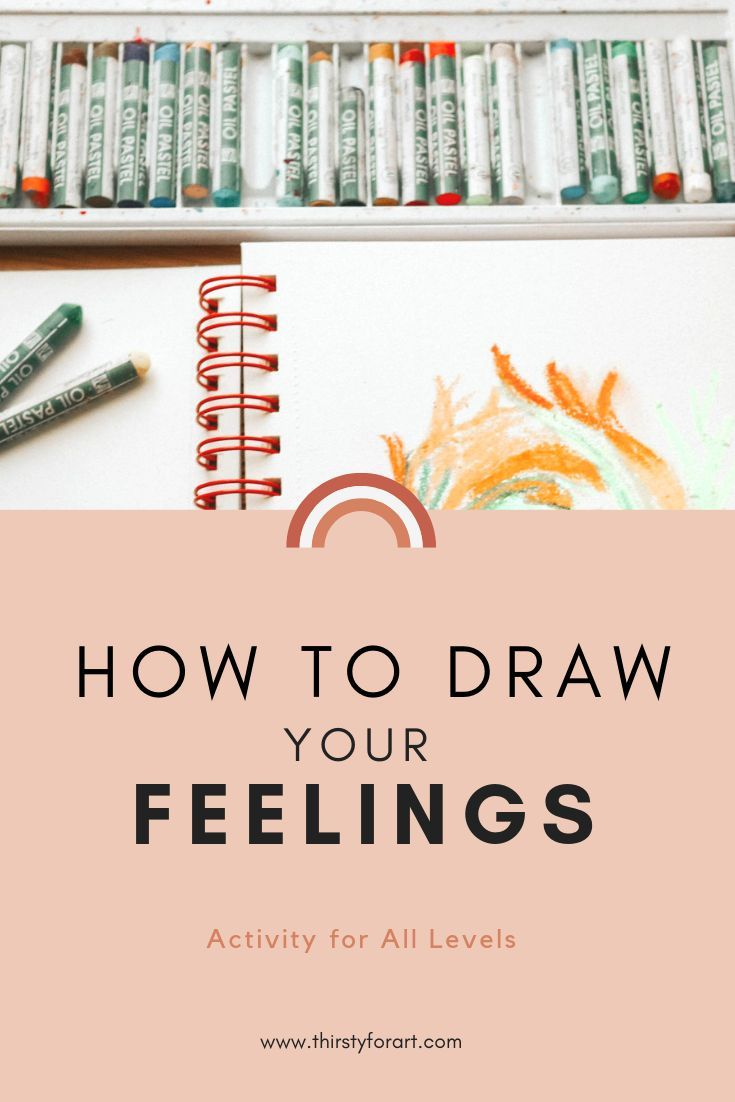 Easy art therapy activity for beginners on how to draw your feelings and paint your emotions using mediums like oil pastel and watercolor paint. This expressive art & mindfulness exercise will help you express yourself and use art as an outlet for your feelings. Click through to see the step by step art therapy exercise / tutorial. #arttherapy #howtodrawyourfeelings #arttherapyidea