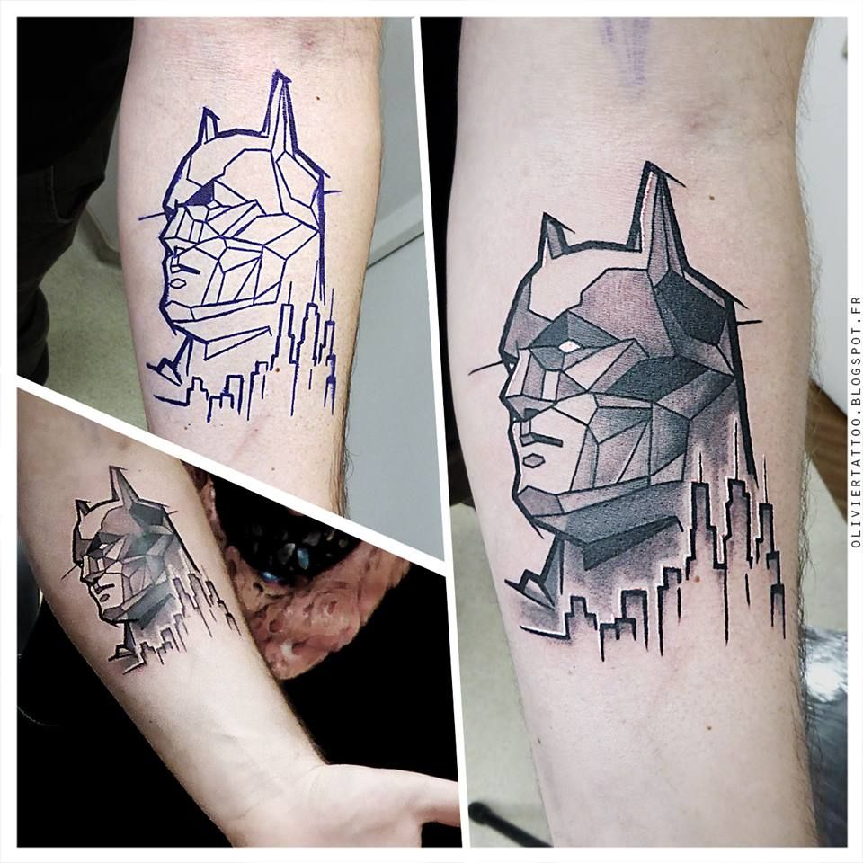 Flaming art tattoo for geek tattoo lovers this kind of batman - I Am Batman Indeed And Who Says Popular Also Says Batman Tattoo