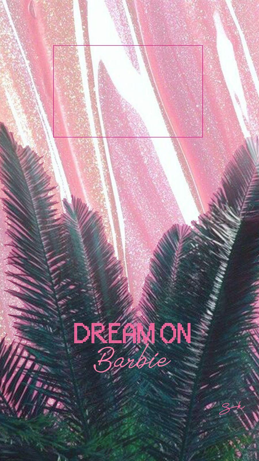 Dream On Barbie Pink Wallpaper