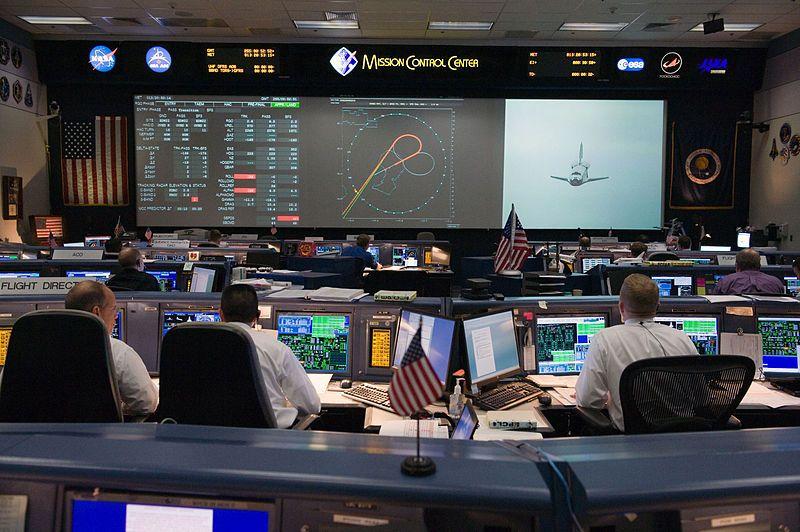 FileSTS128 MCC space shuttle flight control room.jpg