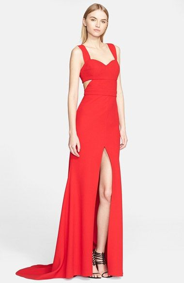Prabal Gurung Cutout Back Crepe Gown available at #Nordstrom