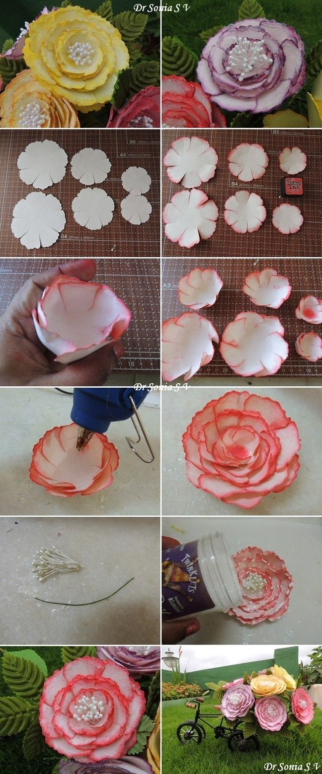 Easy Peony Flower Tutorial No Special Tools Needed And They Are