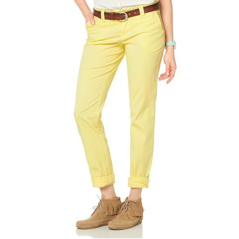 Submarine Pantalon 1 Vue Jaune Ajc Chino Stretch Femme Yellow OnwqB8SOW