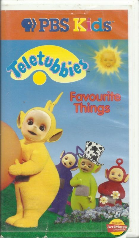 Teletubbies Favourite Things Vol 4 Vhs 1999 Pbs Kids Clamshell In