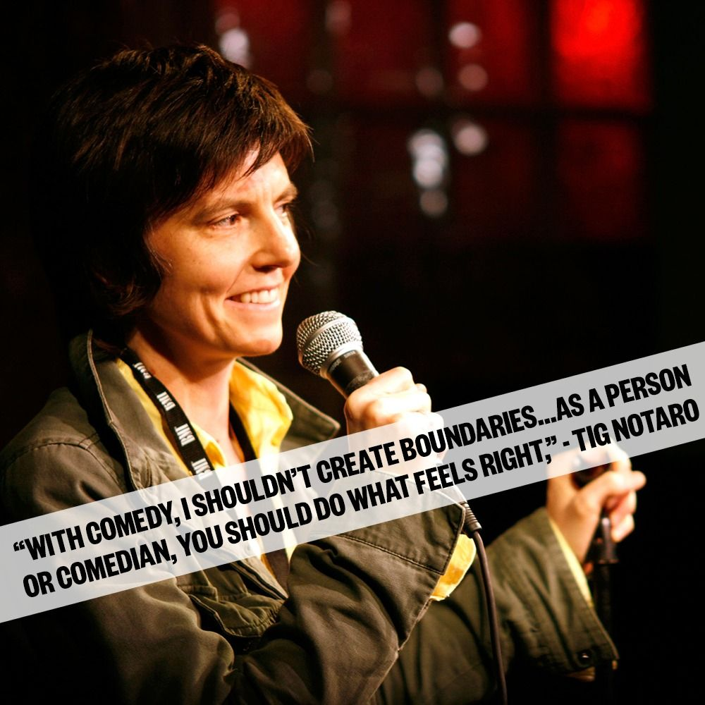 """""""With comedy, I shouldn't create boundaries... as a person"""