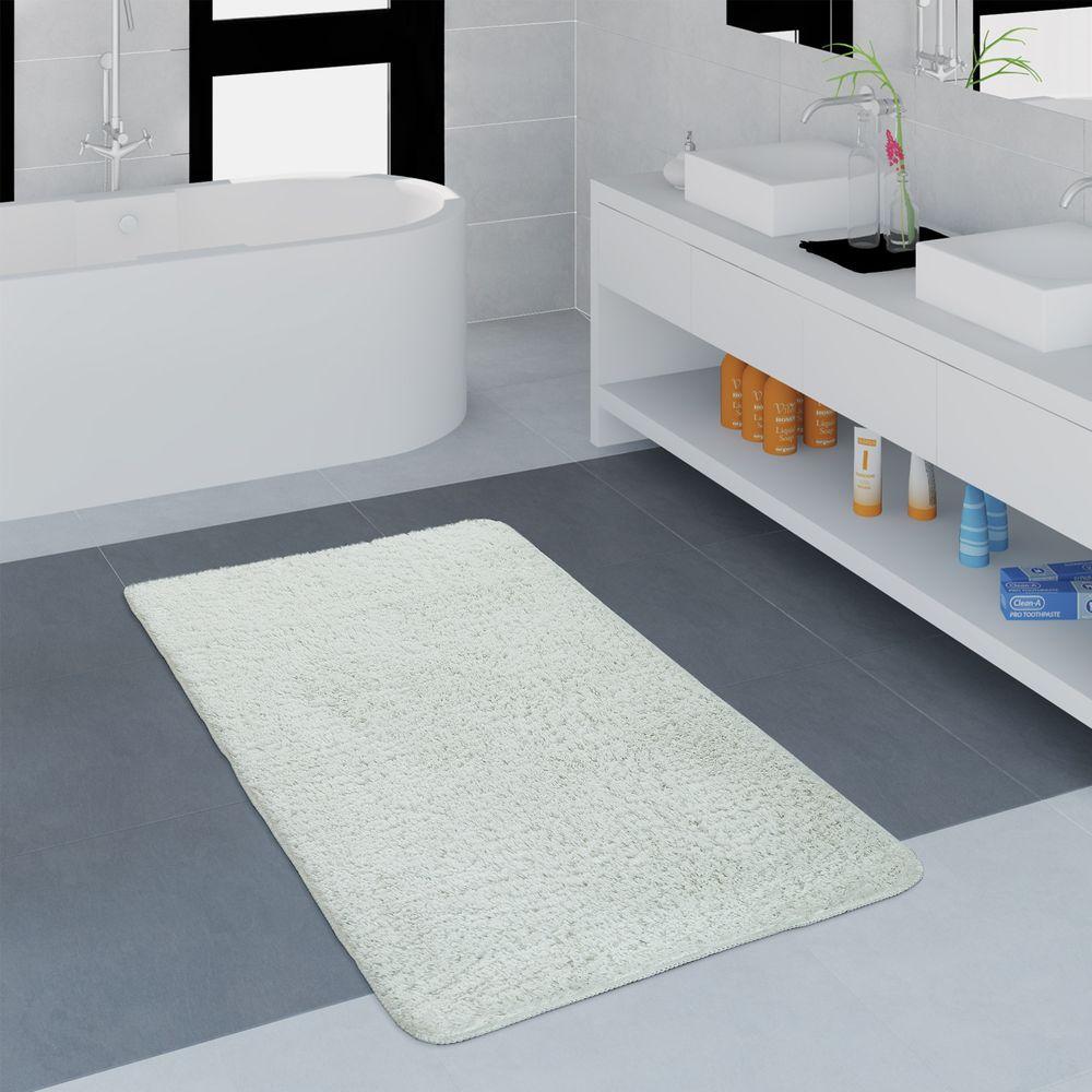 Microfaser Badezimmer Teppich Einfarbig Weiss Grosse Badezimmer Badteppich Badematte