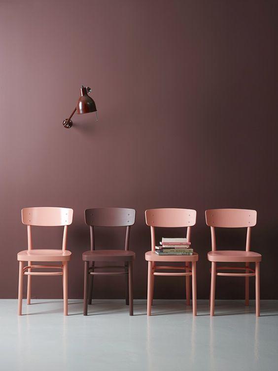 Color crush: Oud roze/bordeauxrood in je interieur | Brown ...