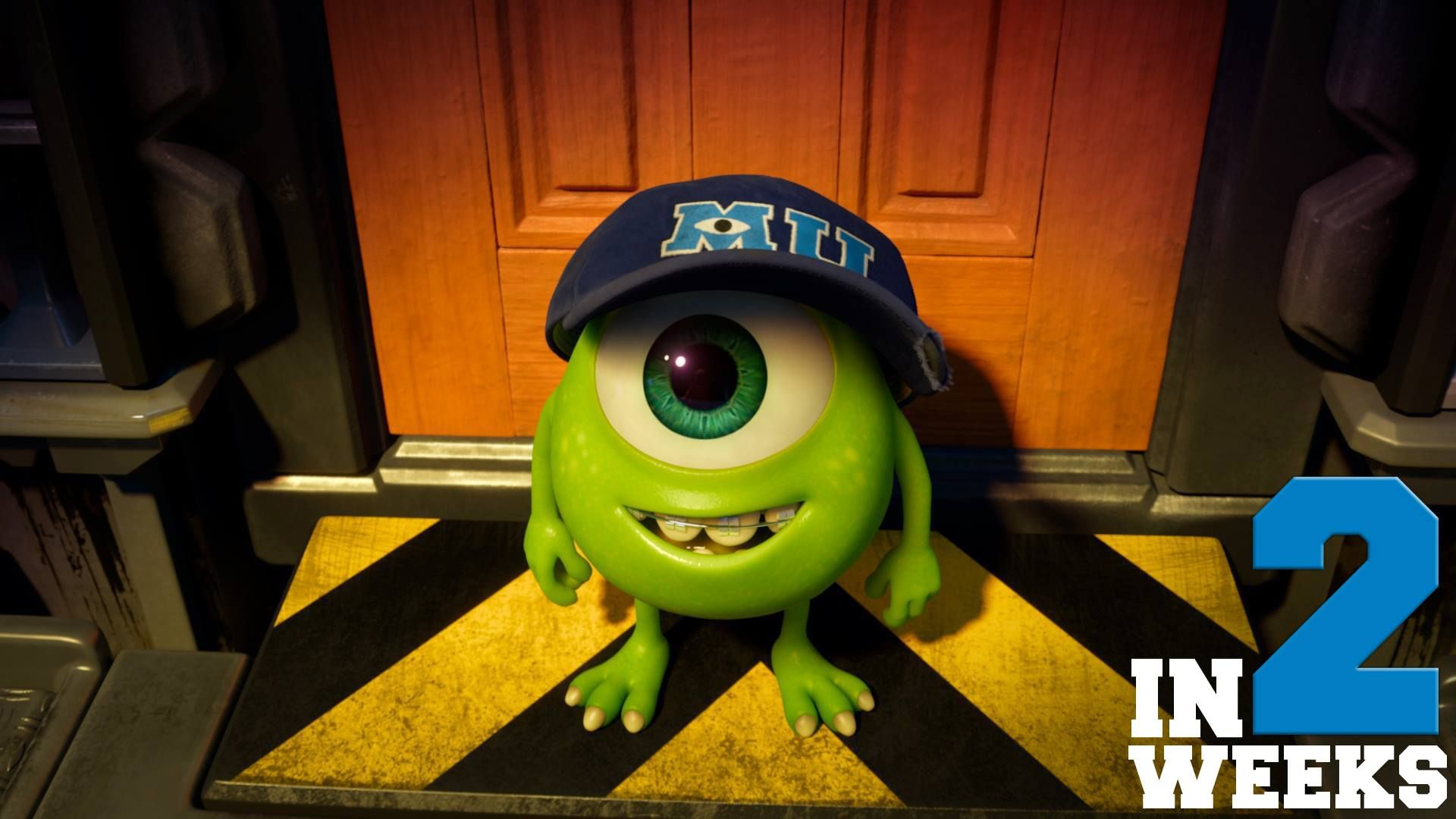 Will You Be Headed To Theatres To See Where Baby Mike Wazowski Began Studying To Become A Scarer Find Sh Disney Monsters Monster University Baby Mike Wazowski