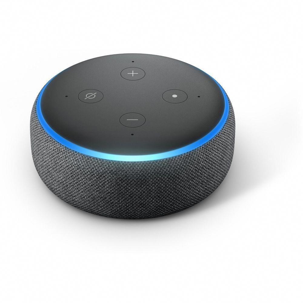 3rd Generation Charcoal Alexa Voice Smart Home Speaker Amazon Echo Dot