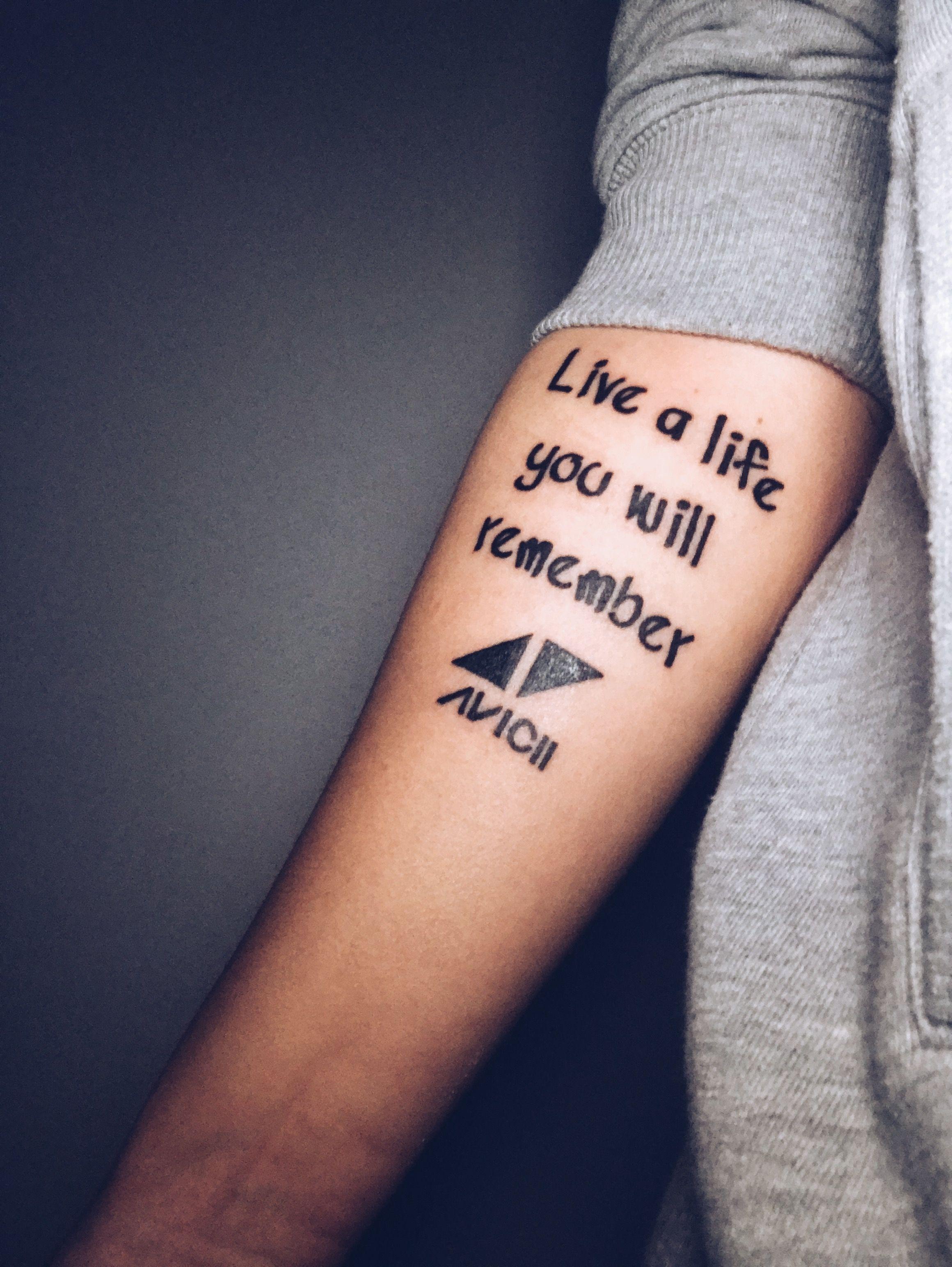 Avicii Tattoo Avicii Tattoo Edm Tattoo Music Tattoos