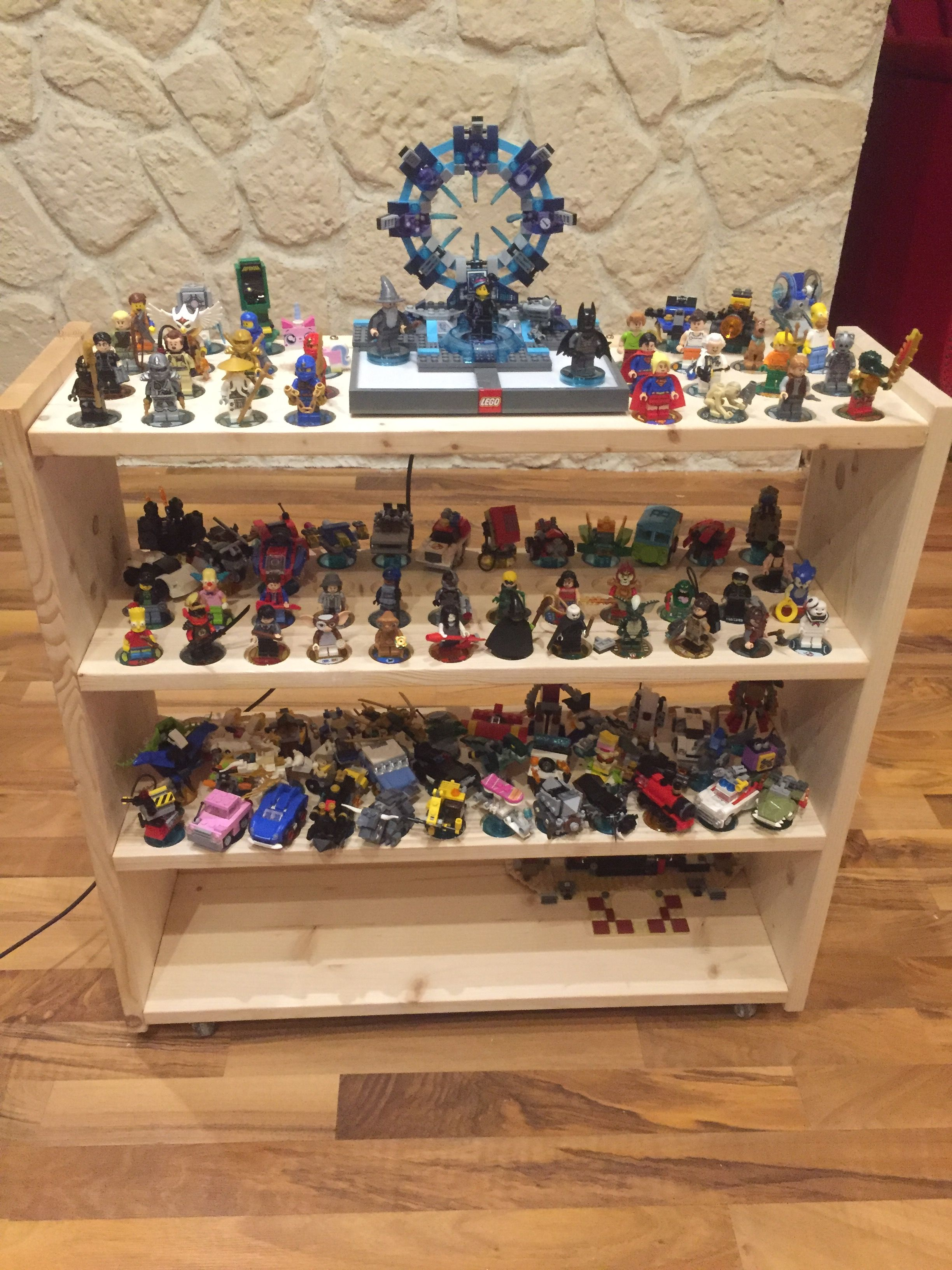 my selfmade lego dimensions storage on wheels there 39 s room for 126 figures a storage for the. Black Bedroom Furniture Sets. Home Design Ideas