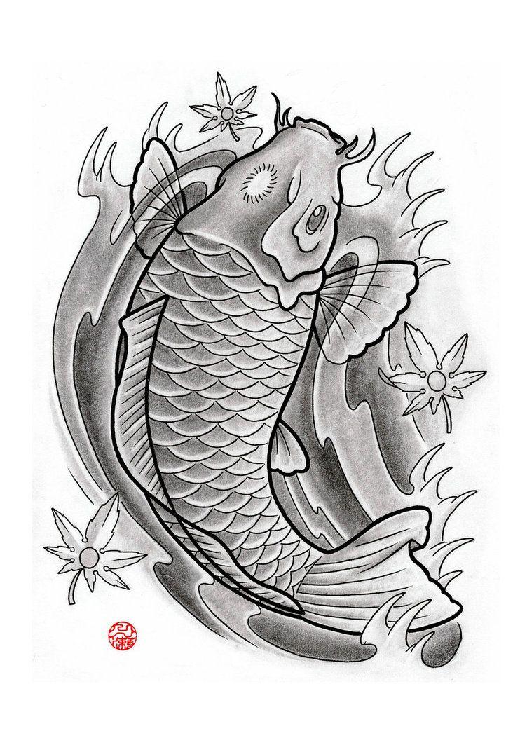 Japanese Koi By Laranj4 On Deviantart Japanese Koi Fish Tattoo Japanese Koi Japanese