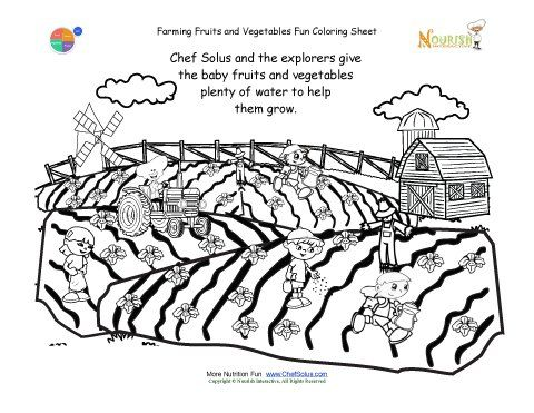 Free Cute Farming Picture Coloring Page For Kids Click To Print