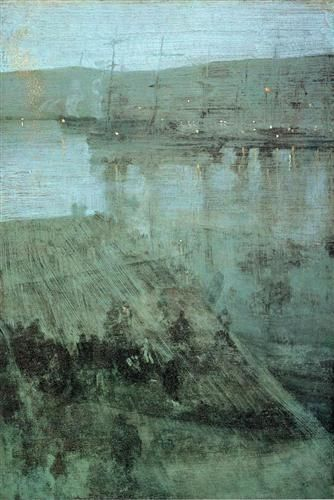 James McNeill Whistler - Nocturne in Blue and Gold Valparaiso Bay - 1866