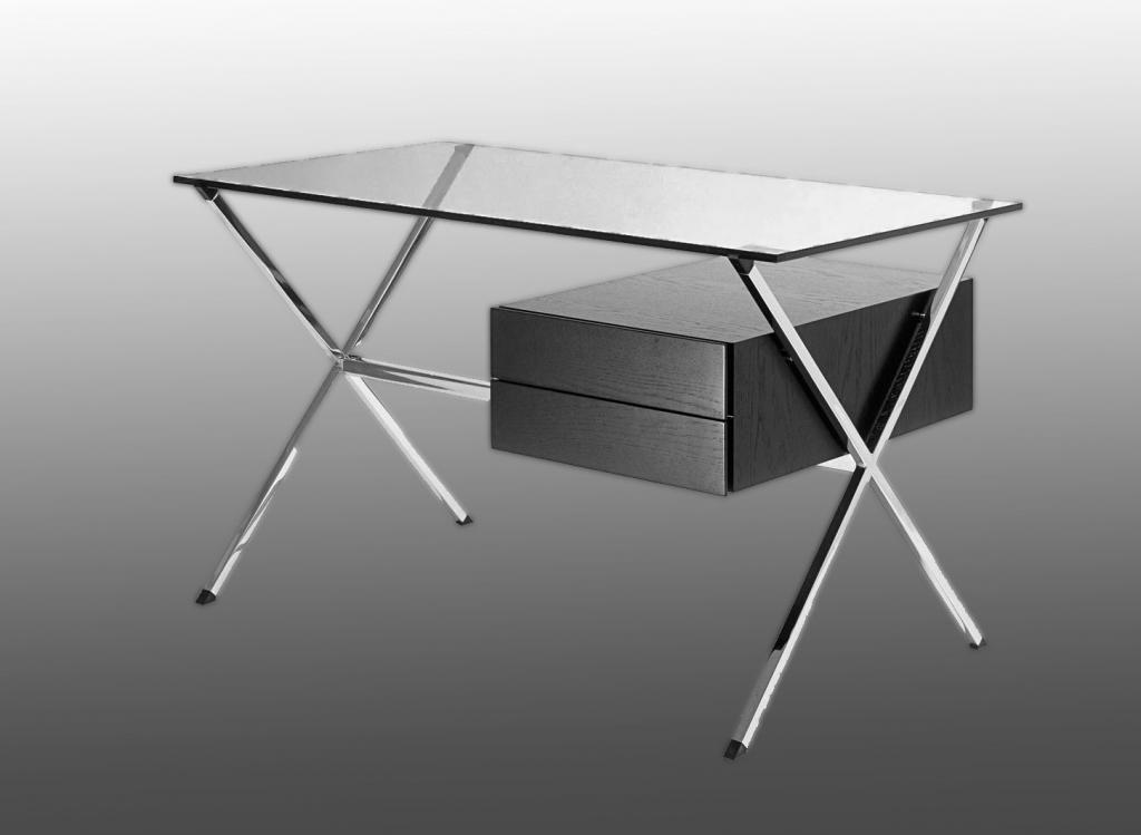 Bureau Knoll Design Franco Albini Circa 1958 Bureaux Sur Structure En Acier Dalle De Verre Mobilier