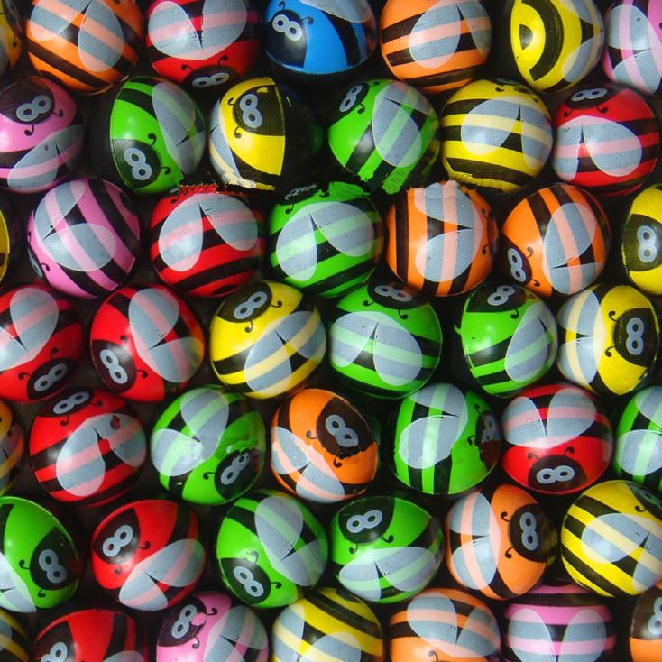 Aliexpress Com Buy 50pcs Baby Toy Balls Machine Bouncing Ball Bouncing Ball Rubber Ball Toy Sports Bee Pattern For Kid Child Baby Ball Toy Bee Toys Baby Toys