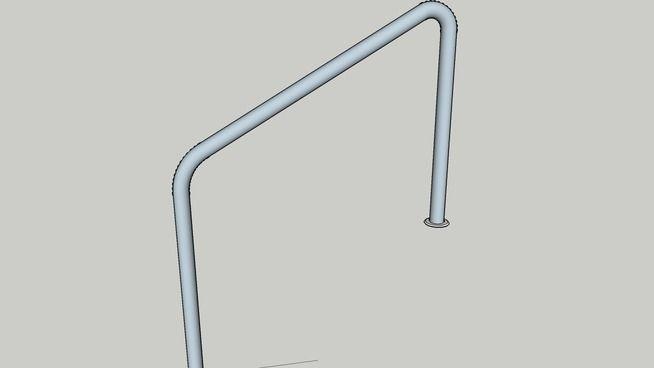 Best Standard Tubular Steel Handrail For Three Risers Steel 400 x 300