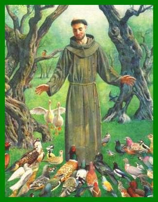 st francis of asisi   st francis of assisi patron saint of animals the environment and bon ...