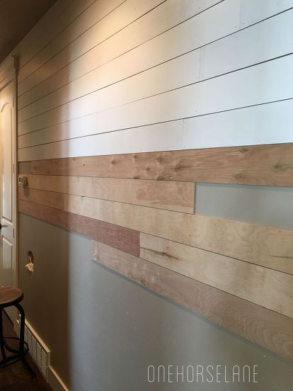 Diy Shiplap Wall Easy And Beautiful Part 1 How To Decor Woodworking Projects