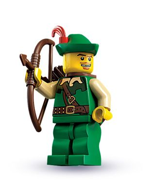 New Genuine LEGO Cowboy Minifig with Revolvers Series 1 8683
