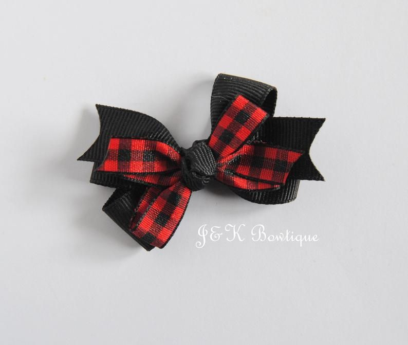 Gift for Girls Red Tartan Hair Bow Hair Slide Party Bow Hair Accessory Large Bow