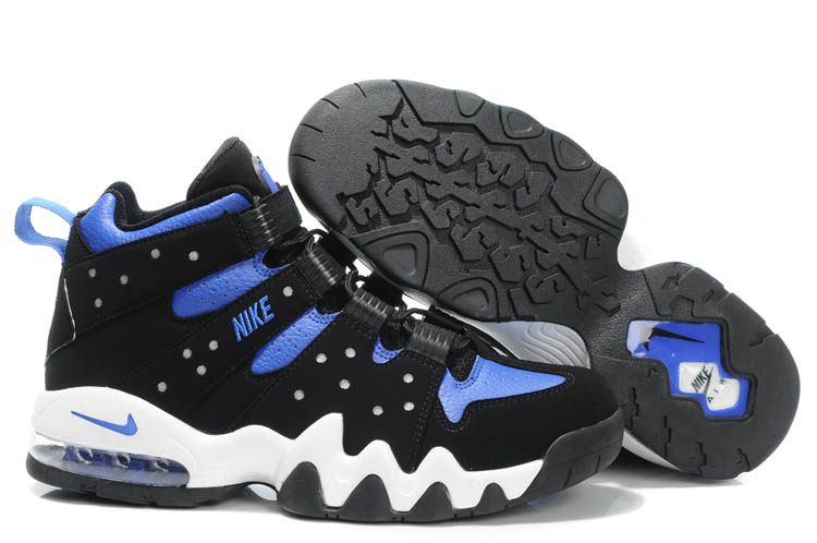 Characterized with orange and blue accents, the Nike Air Max 2 CB 94 Charles  Barkley