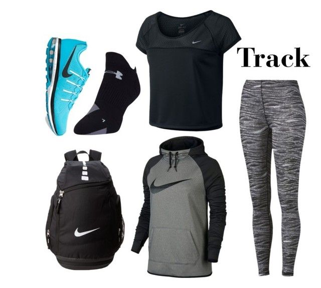 """Track Practice"" by ituneshoppy ❤ liked on Polyvore featuring Puma, NIKE and Under Armour"
