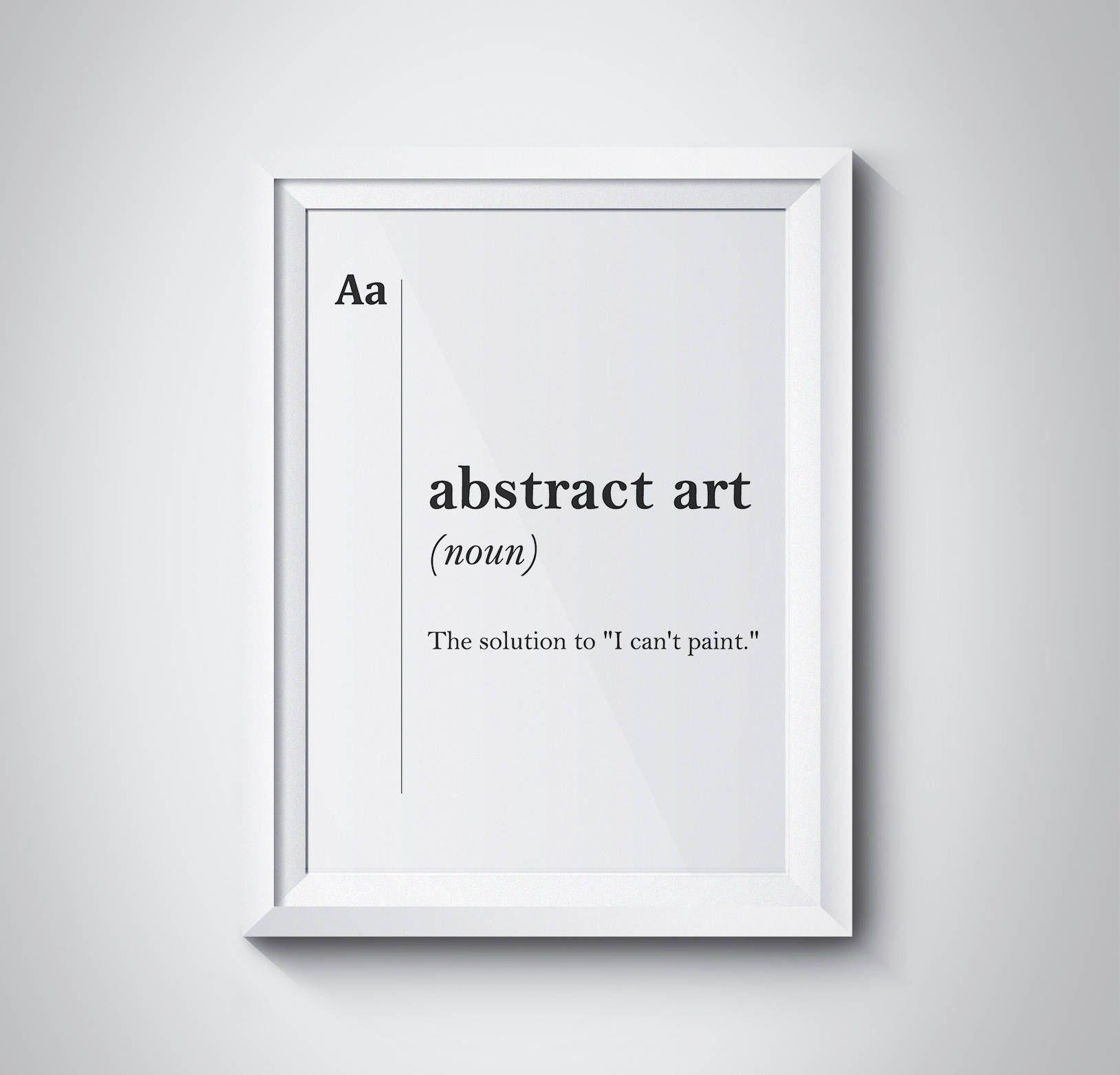 Abstract Art Definition Artist Gift Dictionary Artist Studio Decor Minimalist Scandinavian Diplomat Gift For Artist Print Abstract Poster Gifts For An Artist Artist Gifts Word Wall Art
